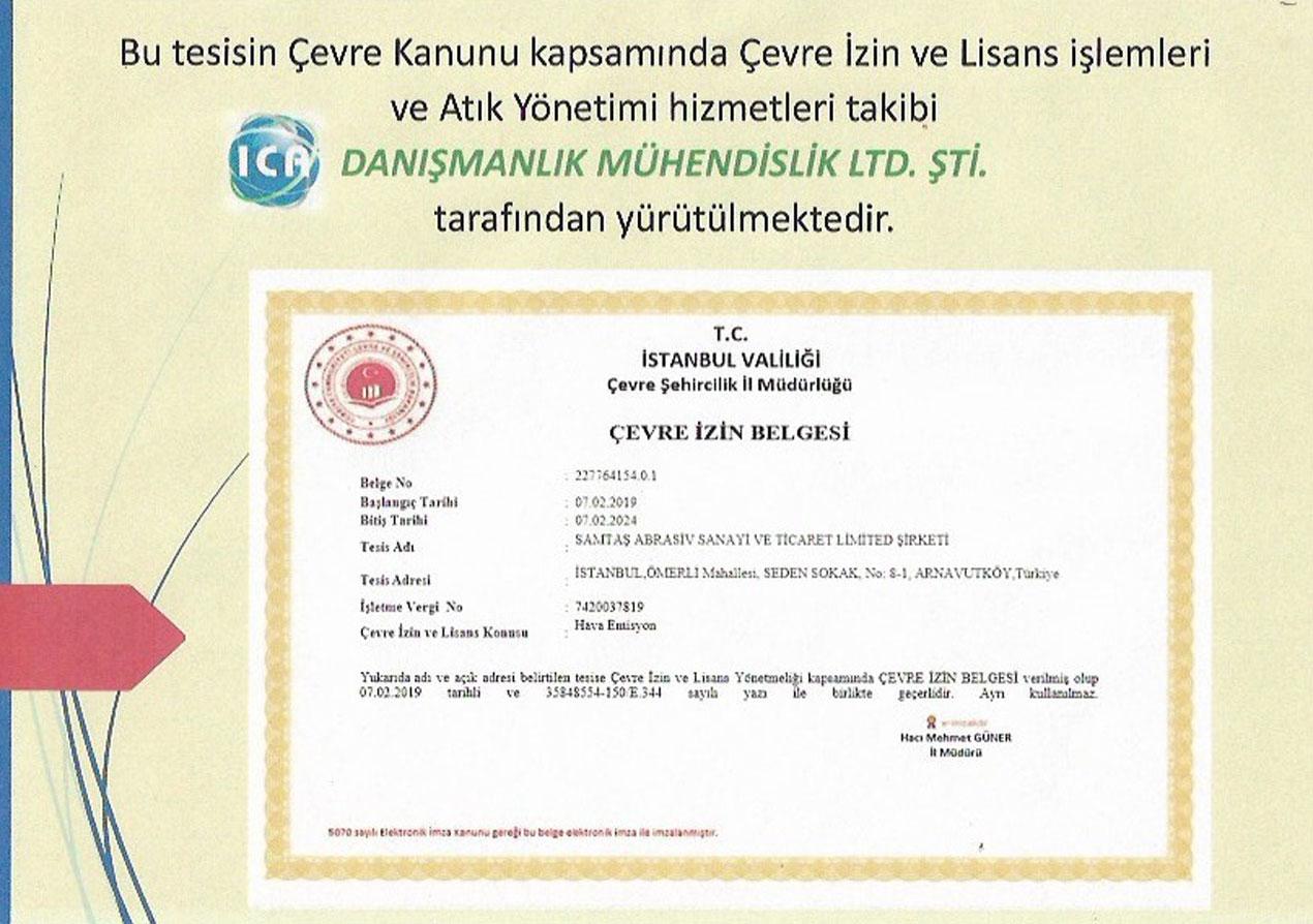 Environmental Permit Certificate